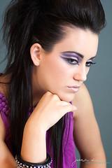 Haute Hair & Makeup (J.Davis 4200) Tags: pink naughty mac lashes purple skin headshot mohawk editorial haut fohawk rockstart