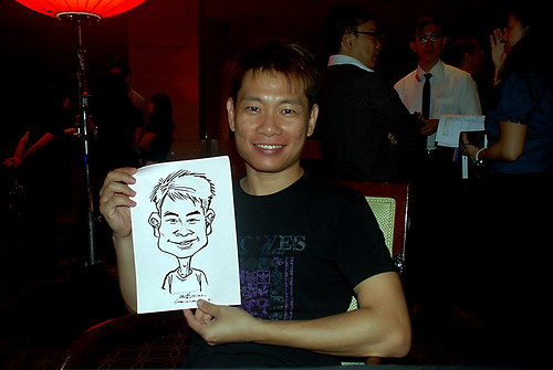Caricature live sketching for Travel Partners Appreciation Dinner - World Fiesta - 11