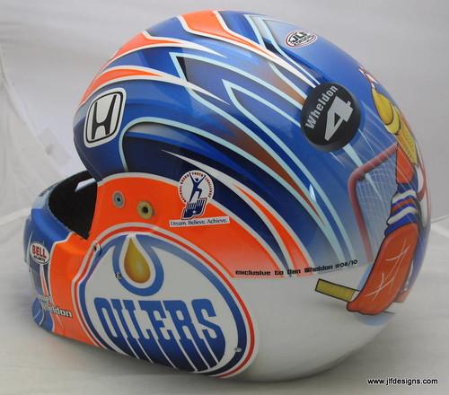 Dan Wheldon's helmet for Edmonton