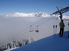 Above the clouds (stevenhoneyman) Tags: above cloud foothills mountain snow ski alps austria chair europe skiing cable pylon alpine kaiser osterreich alp tyrol wilder chairlift salve hohe cloudbase welt kufstein soll tyrolean skiwelt solllandl