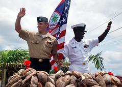 100721-N-1722W-257 (U.S. Pacific Fleet) Tags: rose marine uniform coconut flag navy parade sailor float liberation guam agana uspacificfleet frankcable pacflt