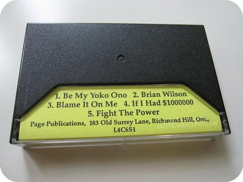 """fight the power"" ""if i had a million dollars"" ""be my yoko ono"" ""blame it on me"" ""brian wilson"" barenaked ladies demo tape cassette"