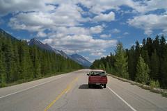 Canadian Rockies [sooc] (Gerardography) Tags: blue summer sky canada rockies highway jasper motorway july ab canadian alberta parkway freeway banff icefields icefieldsparkway