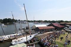 skipjack Caleb W. Jones (wortenoggle) Tags: museum sailboat jones boat w maryland shore maritime oyster launch caleb eastern chesapeake talbot skipjack