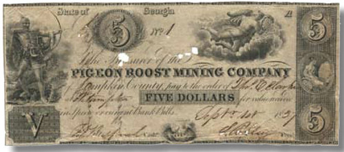 Pigeon Roost Mining Company scrip