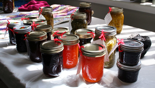 Locally produced jams, jellies, relishes and other goodies were on display.