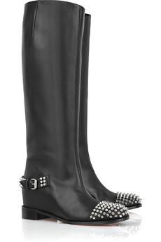Egoutina studded leather boots