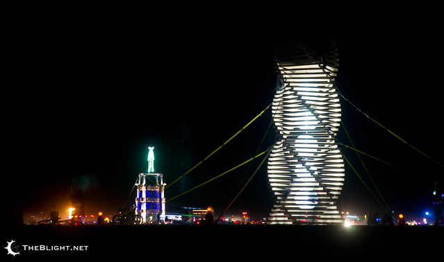 The Helix Spire by Erich Remash at Burning Man 2010