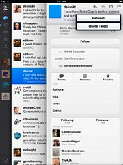 The fact the new Twitter app supports native R...