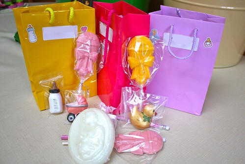 Baby shower gift bags & soap