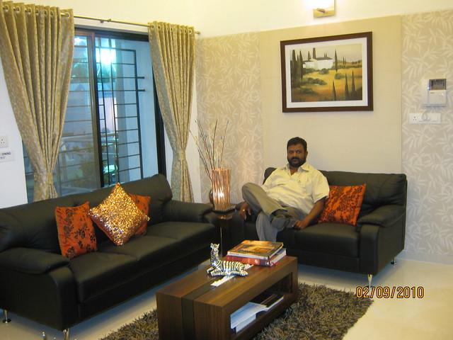 Kiran Deshmukh, Technical Director, in the sample flat of Westside County, Pimple Gurav, Pune 411 027 - 3
