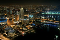 Marina Centre at night #3. (Reggie Wan) Tags: city tourism night flyer singapore asia southeastasia cityscape aerialview esplanade cbd marinabay marinacentre asiancity superaplus aplusphoto sonya700 sonyalpha700 reggiewan