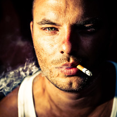 matt (Stphane Giner) Tags: portrait man closeup square cigarette smoke smoking homme carre stephaneginer