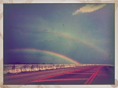 Journey To The End Of A Double Rainbow (E.Caves) Tags: houston dowtown doublerainbow iphone hovlane iphoneography