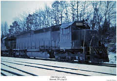 CRR SD45-2 3611 (Robert W. Thomson) Tags: railroad train diesel tennessee railway trains locomotive trainengine etowah sd45 crr emd sd452 clinchfield sixaxle