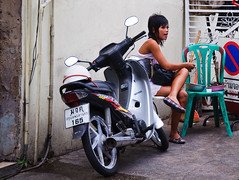 on a break (Adrian in Bangkok) Tags: thailand asia bangkok whores prostitutes hookers hookerrow