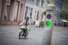 (*m22) Tags: street light green moped verkehr mv simson poller ueckermnde strase nadelhr ueckerstrasse
