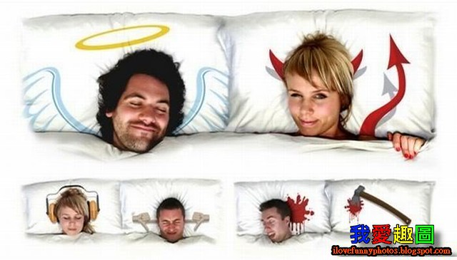 天使與魔鬼床舖