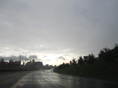 September 1, 2010 (the brilliant magpie) Tags: rain clouds bluesky kansascity wetpavement