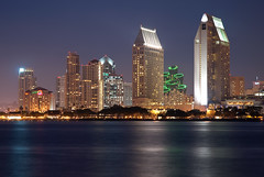 San Diego CityScape (Trent Bell) Tags: california city urban reflection skyline lights cityscape sandiego citylights coronado 2010 longecposure sandiegocityscape