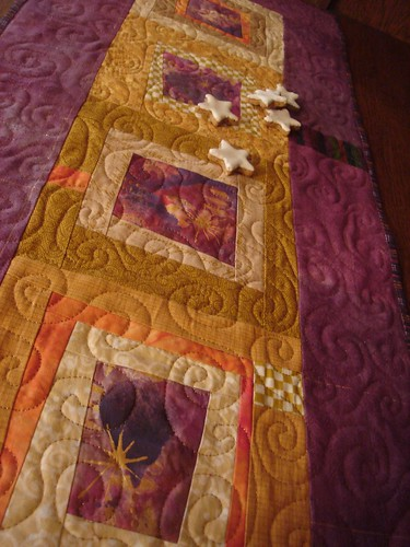 Gold Frankincense and Myrrh Table Runner