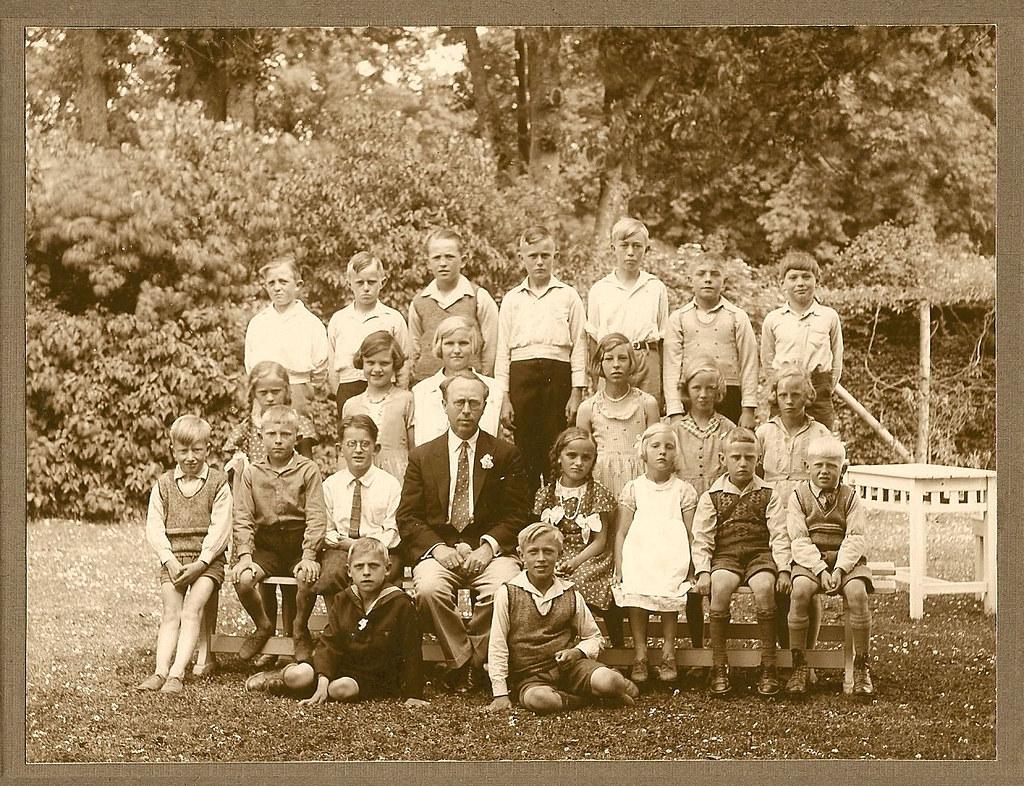 Skolebillede fra Vemmetofte skole 1935