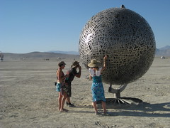admiring the globe (thomas pix) Tags: playa burningman bm 2010 eyefi bm2010