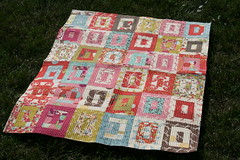 Wonderland Quilt (A Quilting Jewel) Tags: momo quilt moda quilting wonderland honeybun machinequilting quilttop aquiltingjewel