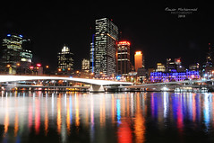 Love River Night (Explored) (Rawan Mohammad ..) Tags: light building love night buildings river photography lights nikon photographer shot photos south bank australia brisbane mohammed saudi arabia tamron mohammad 2010 rn  rawan        d300s rnona   parlands   almuteeb