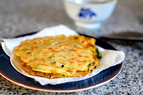 Hobak Jeon - Korean Zucchini Pancakes