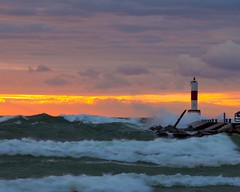 Witch of September (tlpctygrl) Tags: sunset lighthouse gale lakemichigan greatlakes hollandmi witchofseptemberstorm