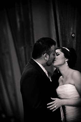 Laura and Elvis's Wedding- Romantic  Kiss