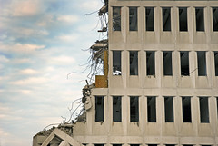 (Sameli) Tags: building abandoned espoo suomi finland office exterior empty demolition 1977 ue urbex