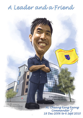 digital caricature for Singapore Police Force A2
