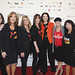 Kathleen Lobb, Rusty Robertson, Lisa Paulsen, Ellen Ziffren, Sherry Lansing, Laura Ziskin, and Sue Schwartz on the red carpet at the 2010 Stand Up To Cancer Show.