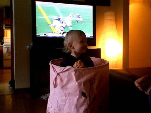 Zoey laundry bag Michigan game