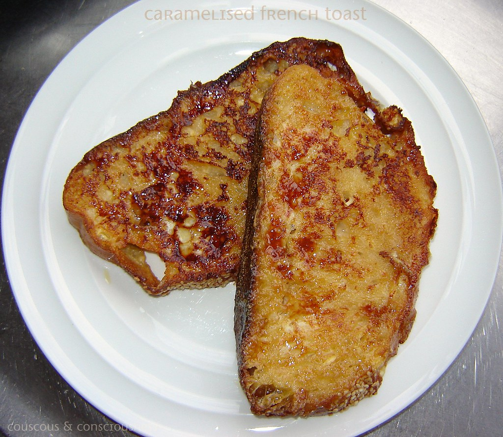 Caramelised French Toast with Raspberry Compote 2, cropped & edited