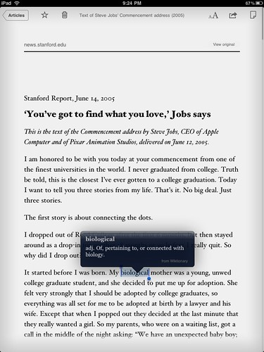 Instapaper for iPad (white)