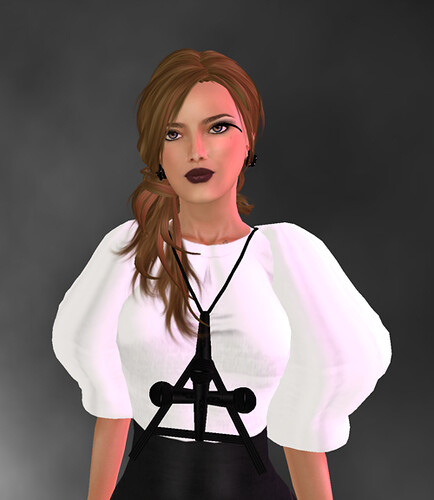 Exile Bianca/coffee one of the gifts of the stand on Hair Fair