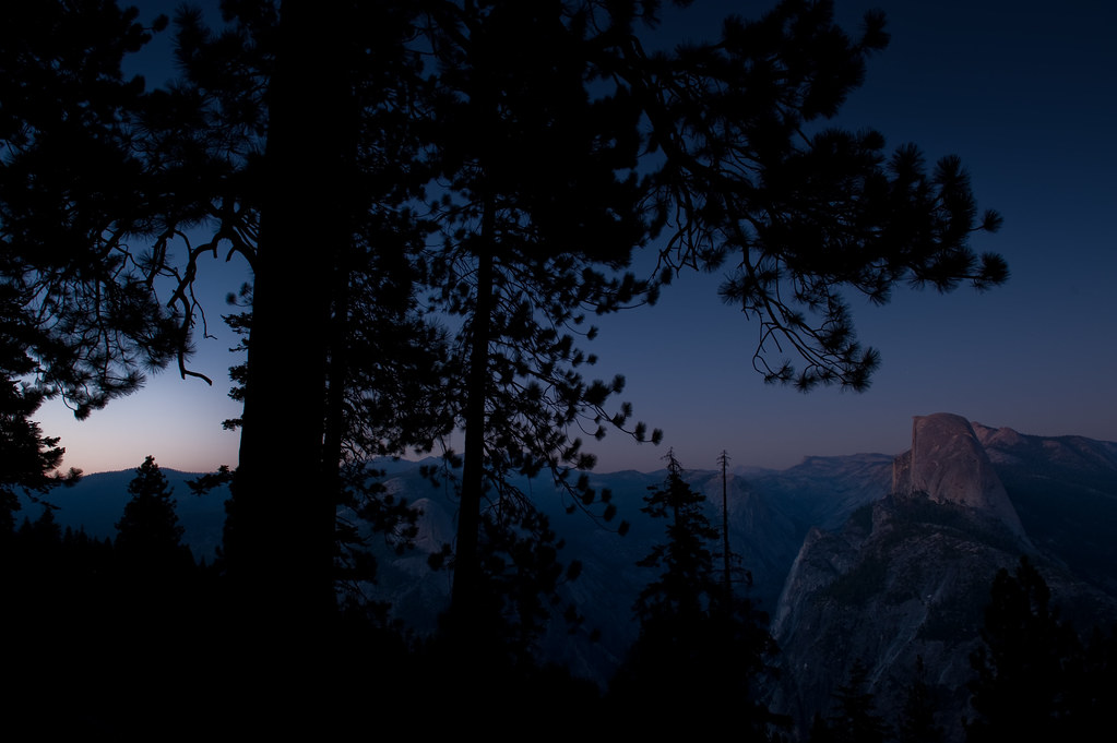 Half dome in half light