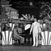 Tommy Myles Orchestra with Tommy Myles in front, and Billy Eckstine directing - 1934