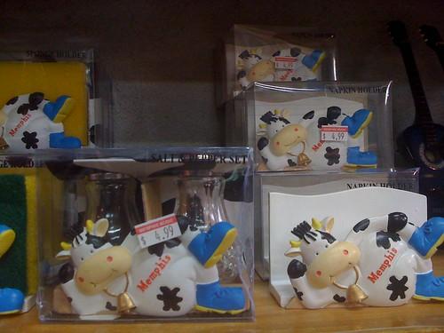 Cow napkin and Sponge holders
