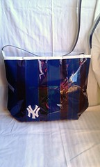 all blue yankee 5 (ducktapediva) Tags: blue white newyork baseball gray purse ducttape yankees tote ducktape americanleague worldserieschampions