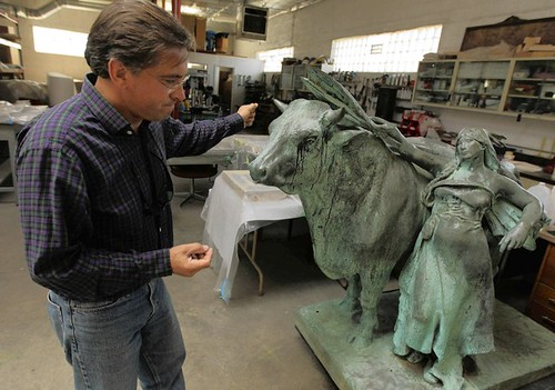 Recovered Daniel Chester French Bull statue