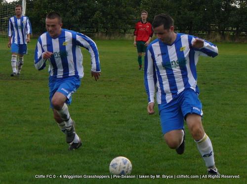 Cliffe FC 0 - 4 Wigginton Grasshoppers (pre-season) 11Sept10
