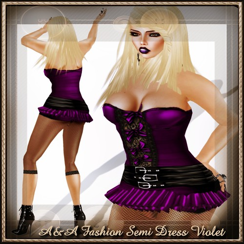 A&A Fashion Semi Dress Violet