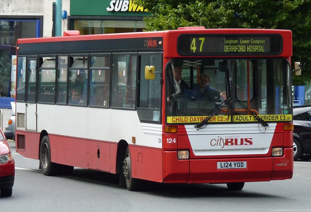 Plymouth Citybus 124 L124YOD