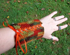 Crocheted Autumn Wood Elf Bracers