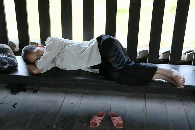 Taking a nap, Chengyang, Guangxi, China