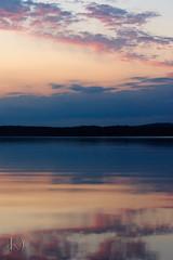 Stillness (Chrisseee) Tags: blue sunset lake clouds canon finland landscape purple stillness sysmä kristiinahillerström chrisseee joutsjärvi